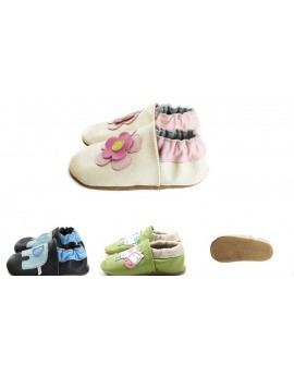 Soft leather baby shoes...