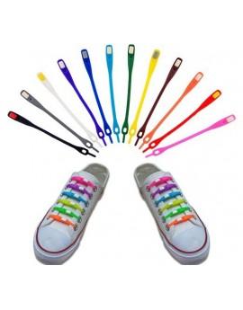 Silicone shoelaces